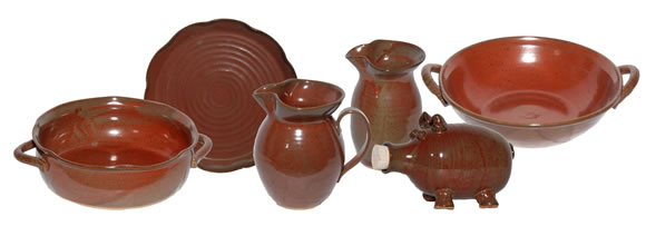 Randy's Red pottery pieces